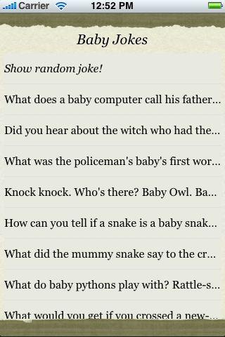 Baby Jokes screenshot #3