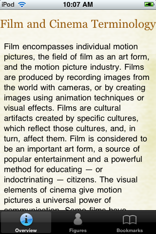 Film and Cinema Terminology Pocket Book screenshot #1