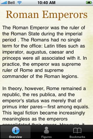 Roman Emperors Pocket Book screenshot #2