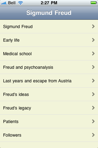 Sigmund Freud screenshot #1