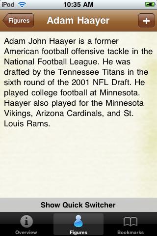 All Time Arizona Football Roster screenshot #2