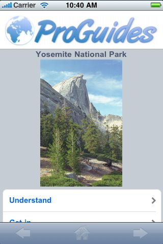 ProGuides - Yosemite National Park screenshot #1