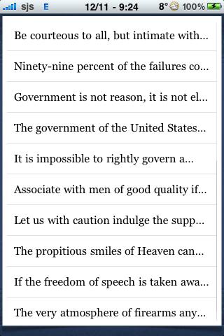 George Washington Quotes screenshot #2