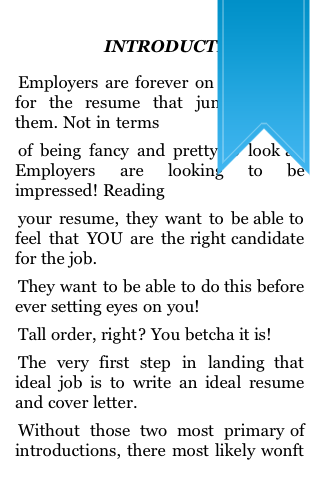 The Professional Approach to Resumes and Cover Letters screenshot #2