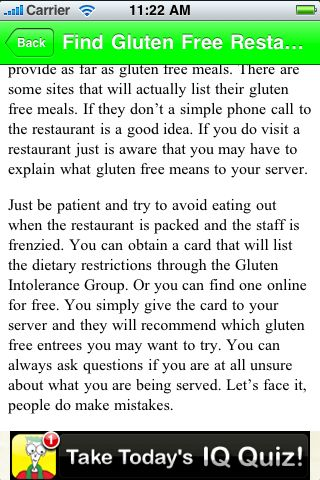iGuides - How to Live Gluten Free screenshot #2