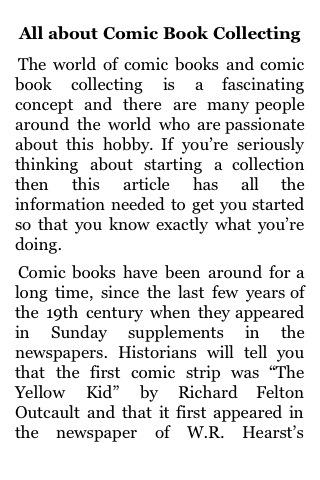 All About Comic Book Collecting screenshot #1