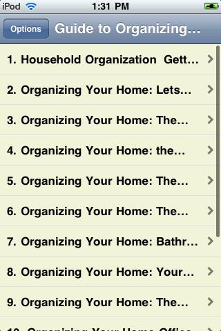 Guide to Organizing Your Home screenshot #2