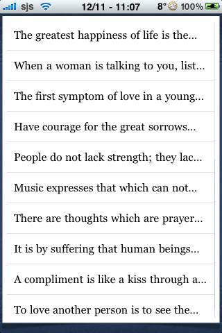 Victor Hugo Quotes screenshot #3