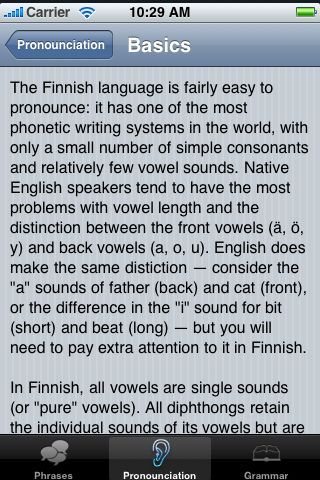 iTrek! - Finnish Phrasebook screenshot #3