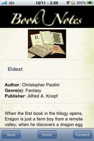 Book Notes - Eldest screenshot #3