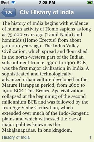 The History of India screenshot #2