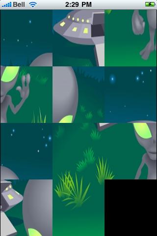 Alien Coming in Peace Slide Puzzle screenshot #3
