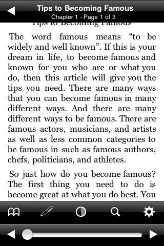 Tips to Becoming Famous screenshot #2