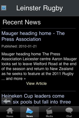 Rugby Fans - Leinster screenshot #2