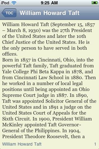 William Howard Taft - Just the Facts screenshot #3