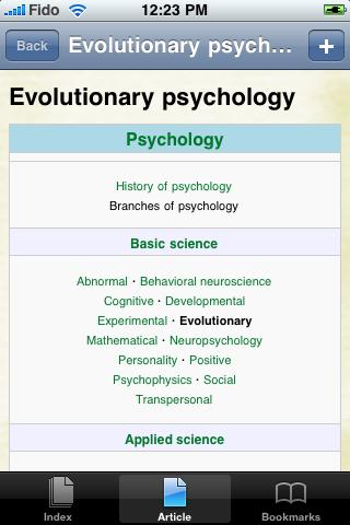 Evolutionary Psychology Study Guide screenshot #1