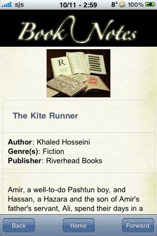 Book Notes - The Kite Runner screenshot #3