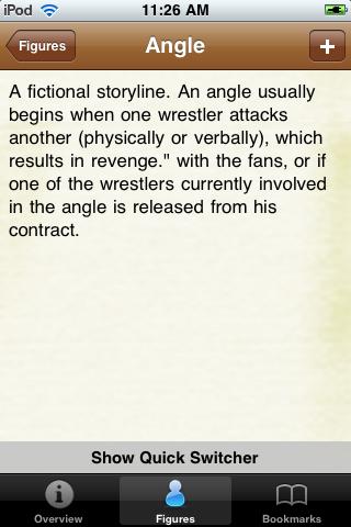 Pro Wrestling Terms Pocket Book screenshot #3