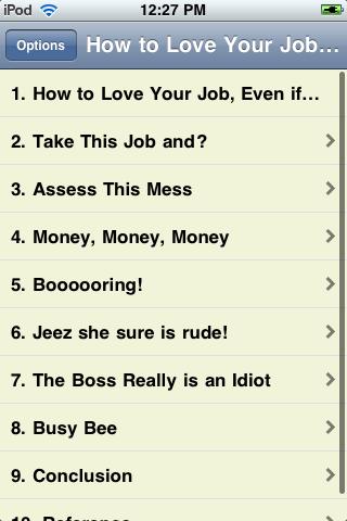 How to Love Your Job screenshot #2