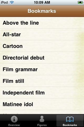 Film and Cinema Terminology Pocket Book screenshot #5