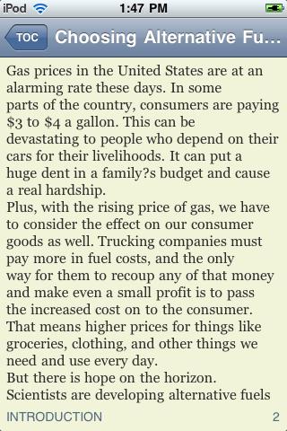 Choosing Alternative Fuel screenshot #1