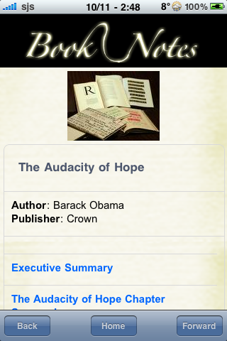 Book Notes - The Audacity of Hope screenshot #3