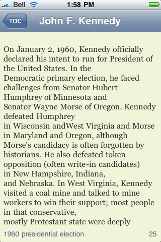 John F. Kennedy eBook screenshot #3