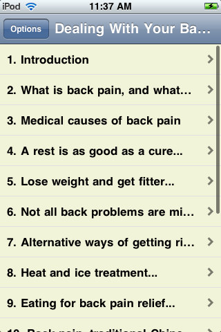 Dealing With Your Back Pain the Natural Way screenshot #1