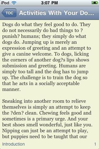 Activities With Your Dog screenshot #3