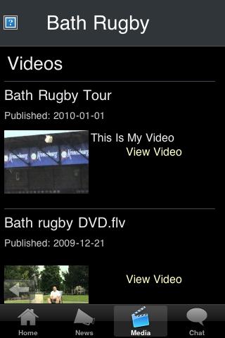 Rugby Fans - Bath screenshot #3