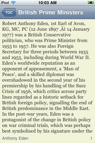 Prime Ministers of the United Kingdom screenshot #2