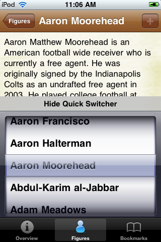 All Time Indianapolis Football Roster screenshot #3