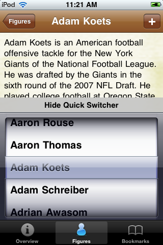 All Time New York G Football Roster screenshot #3