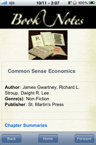 Book Notes - Common Sense Economics screenshot #3