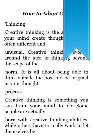 How To Adopt Creative Thinking screenshot #2