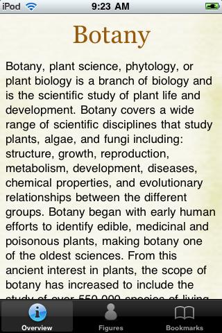 Botany Guide Pocket Book screenshot #1