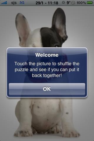 French Bulldog Slide Puzzle screenshot #3
