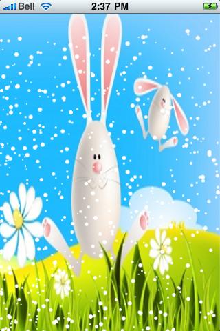 Easter Bunnies Snow Globe screenshot #2
