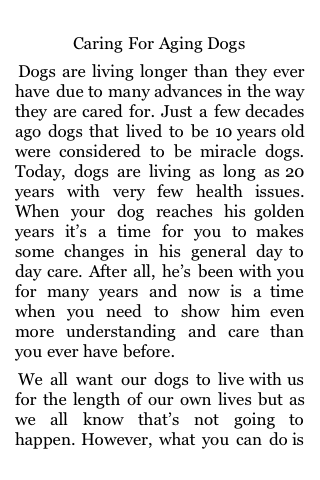 Caring For Aging Dogs screenshot #1
