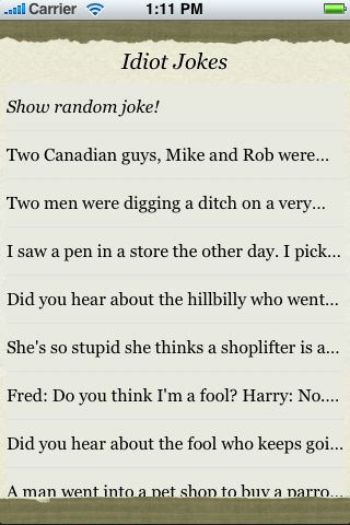 Idiot Jokes screenshot #3