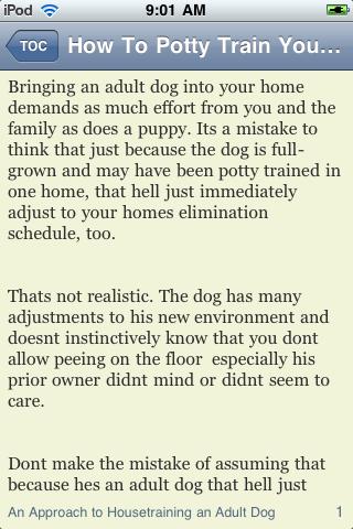 How To Potty Train Your Dog screenshot #3