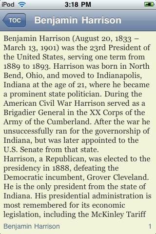 Benjamin Harrison - Just the Facts screenshot #3