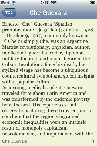 Che Guevara - Just the Facts screenshot #2