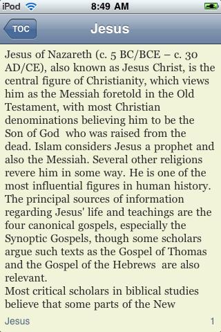 Jesus of Nazareth - Just The Facts screenshot #3