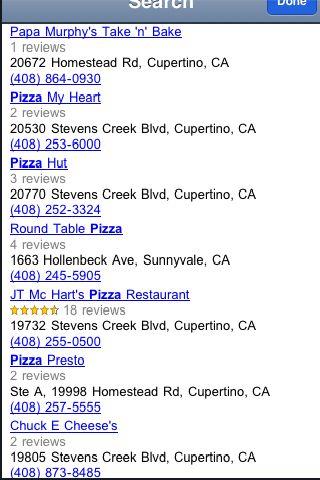 iLocate - Pizza screenshot #2