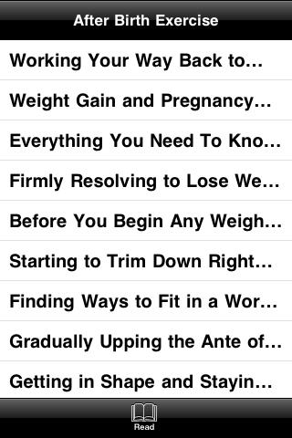 Getting Back Into Shape After Pregnancy screenshot #2