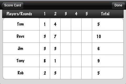 Score Card screenshot #2