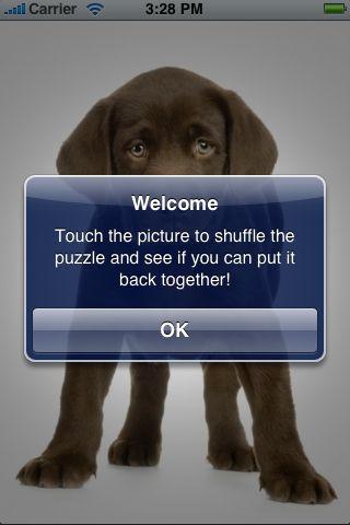 SlidePuzzle - Chocolate Lab screenshot #2
