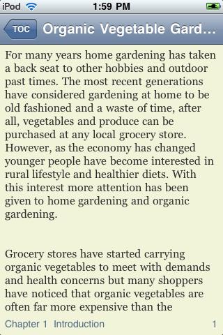 Organic Vegetable Gardening screenshot #2