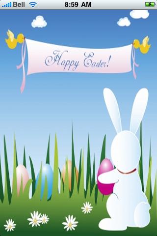 Happy Easter Snow Globe screenshot #1